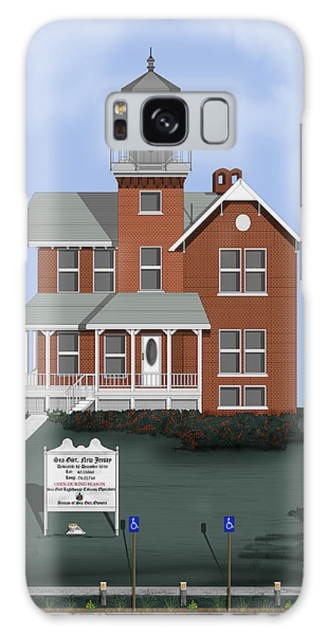 Lighthouse Galaxy Case featuring the painting Sea Girt New Jersey by Anne Norskog