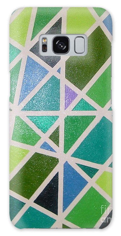 Green Galaxy S8 Case featuring the painting Sea Glass Revisited by Maria Bonnier-Perez