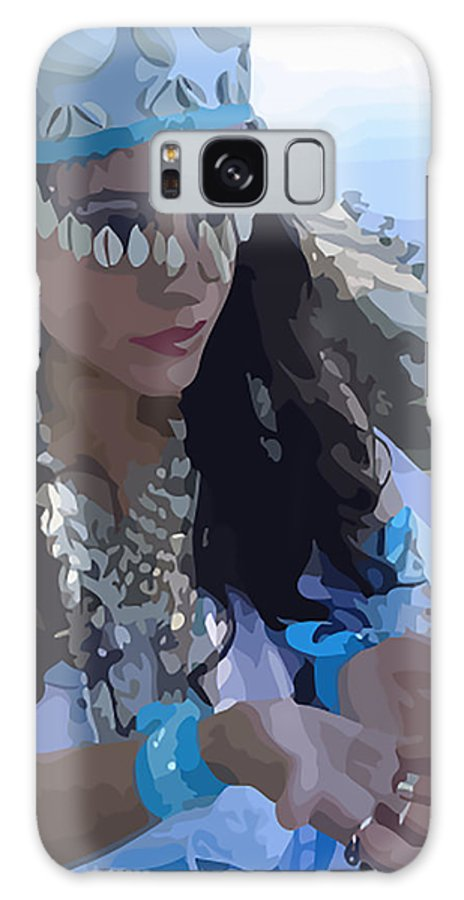 Sea Goddess Galaxy S8 Case featuring the painting Sea Goddess by Marcus Wang