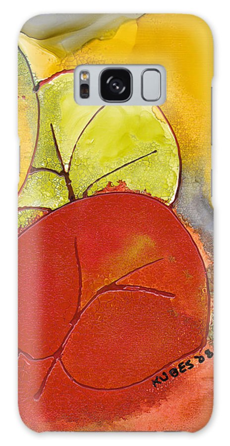 Leaf Galaxy S8 Case featuring the painting Sea Grapes by Susan Kubes