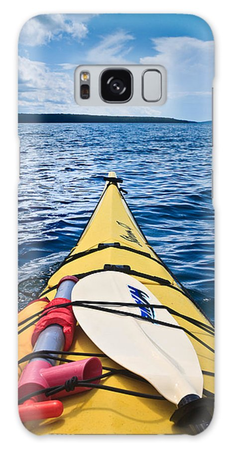 Apostle Galaxy S8 Case featuring the photograph Sea Kayaking by Steve Gadomski