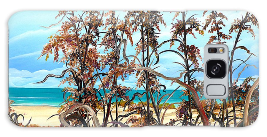 Ocean Painting Sea Oats Painting Beach Painting Seascape Painting Beach Painting Florida Painting Greeting Card Painting Galaxy S8 Case featuring the painting Sea Oats by Karin Dawn Kelshall- Best