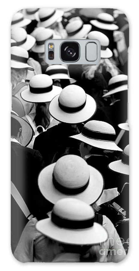 Hats Schoolgirls Galaxy Case featuring the photograph Sea Of Hats by Sheila Smart Fine Art Photography