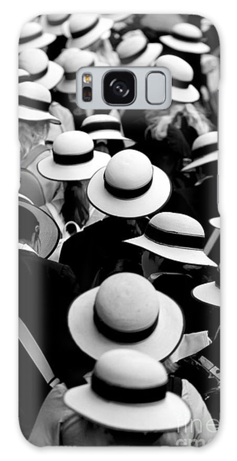 Hats Schoolgirls Sea Of Hats Galaxy Case featuring the photograph Sea of Hats by Sheila Smart Fine Art Photography