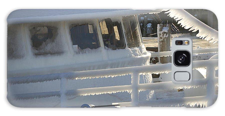Fishing Galaxy S8 Case featuring the photograph Sea Spray Ice by Faith Harron Boudreau