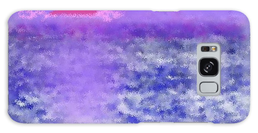 Landscape Galaxy Case featuring the digital art Sea Sunset by Dr Loifer Vladimir