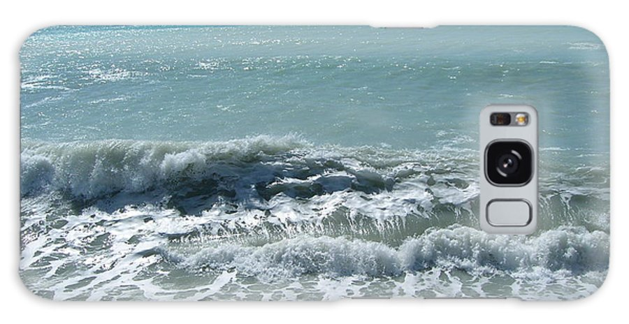 Sea Galaxy S8 Case featuring the photograph Sea Waves In Italy by Tiziana Verso