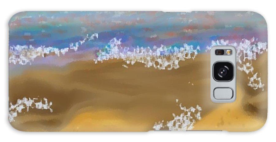 Landscape Galaxy Case featuring the digital art Sea.breeze.wet Sand. by Dr Loifer Vladimir