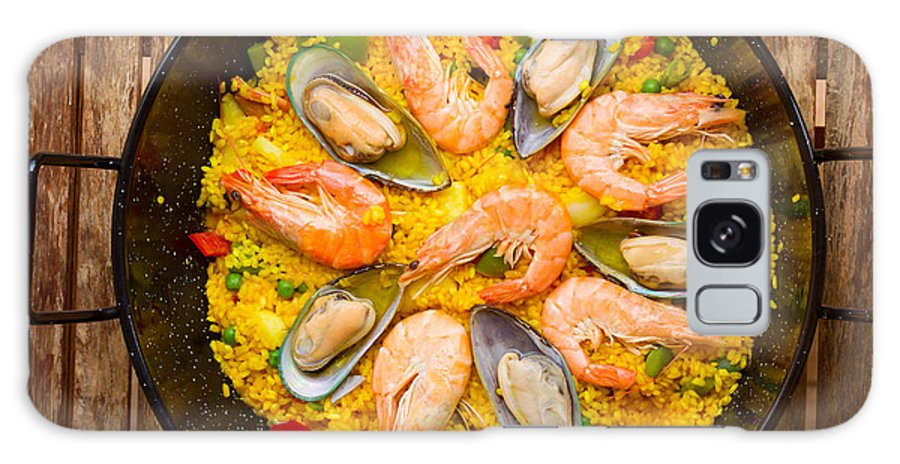 Paella Galaxy S8 Case featuring the photograph Seafood Paella by Anastasy Yarmolovich