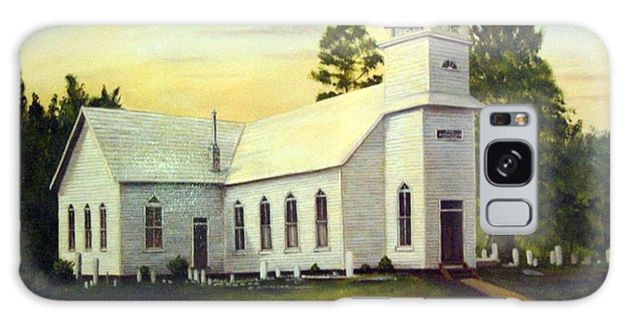 Church Galaxy Case featuring the painting Seaford Zion Methodist Church by Anne Kushnick