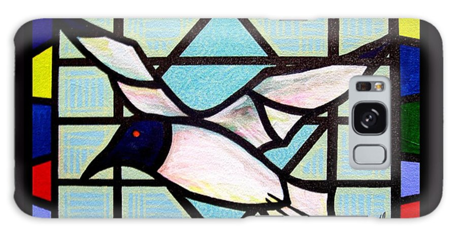 Seagull Galaxy Case featuring the painting Seagull Serenade by Jim Harris