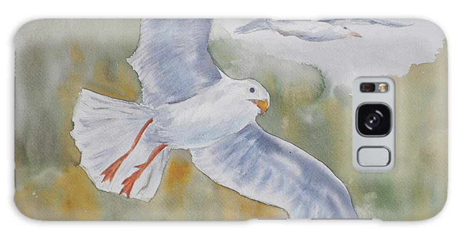 Souring Galaxy S8 Case featuring the painting Seagulls Over Glacier Bay by Vicki Housel