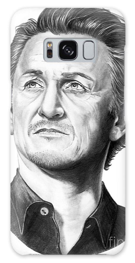 Portrait Galaxy S8 Case featuring the drawing Sean Penn by Murphy Elliott