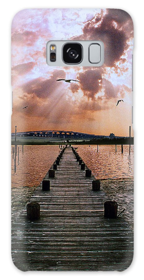 Seascape Galaxy Case featuring the photograph Seaside by Steve Karol