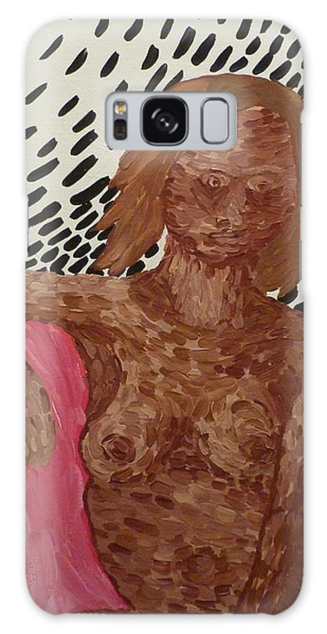 Nude Galaxy S8 Case featuring the painting Seated Nude by Joshua Redman