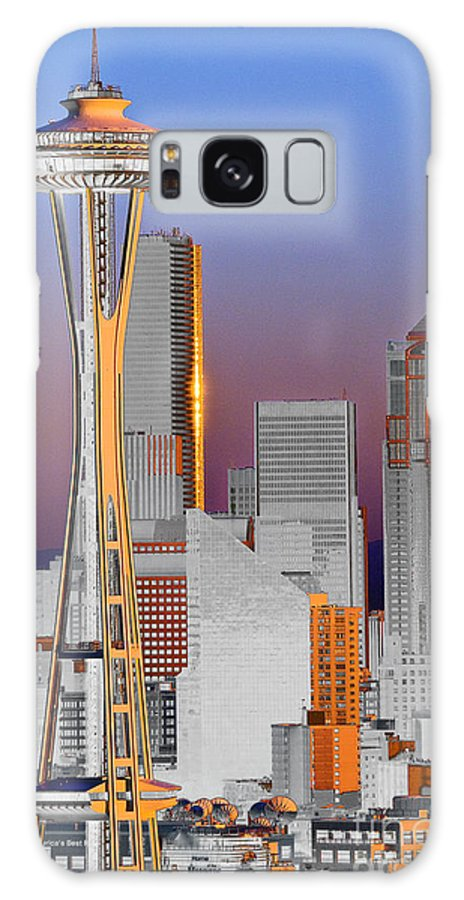 Seattle Galaxy S8 Case featuring the photograph Seattle Architecture by Larry Keahey