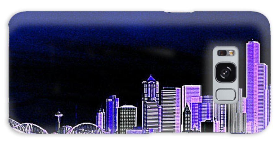 Seattle Galaxy S8 Case featuring the photograph Seattle Blue 2 by Nick Gustafson