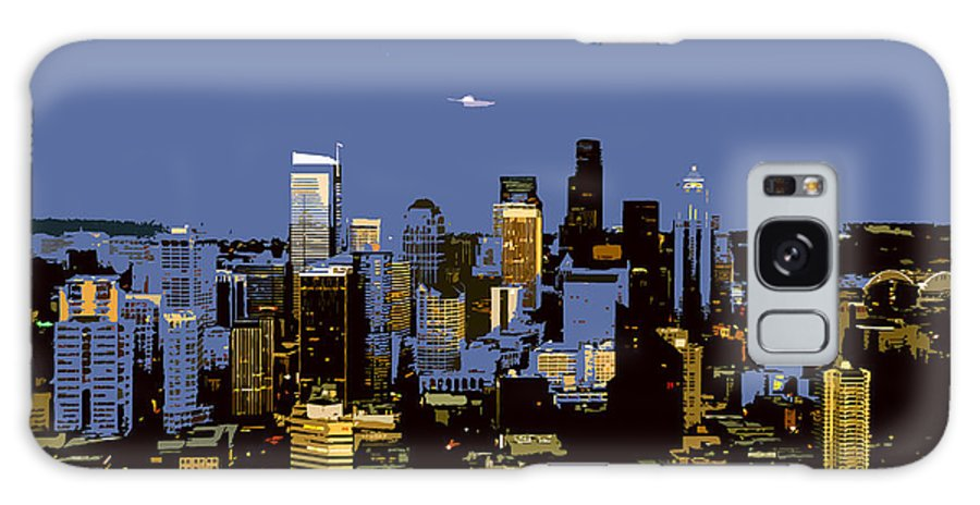Seattle Washington Galaxy S8 Case featuring the painting Seattle City by David Lee Thompson