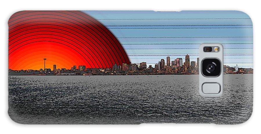 Seattle Galaxy S8 Case featuring the digital art Seattle Dawning 2 by Tim Allen