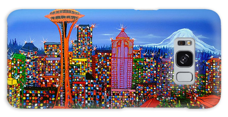 Galaxy S8 Case featuring the painting Seattle Space Needle 5 by Dunbar's Modern Art