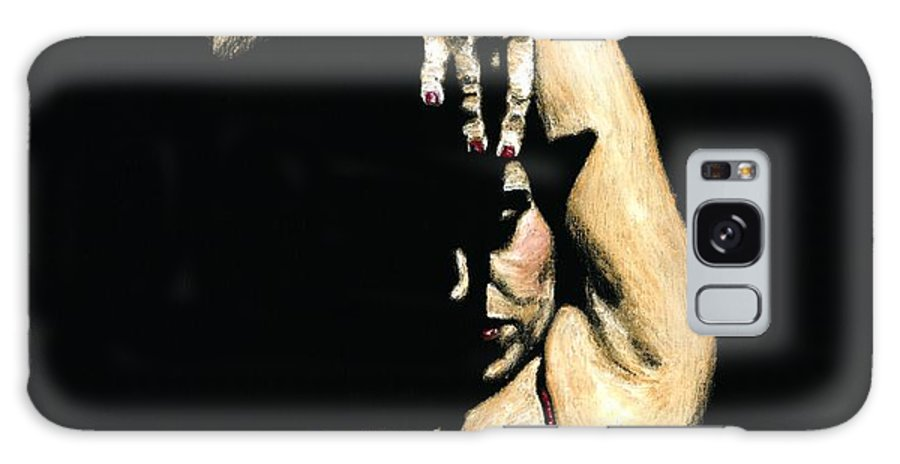 Flamenco Galaxy Case featuring the painting Seclusion Del Flamenco by Richard Young