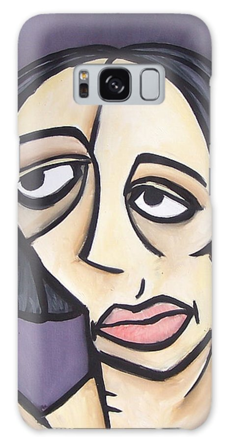 Nude Galaxy S8 Case featuring the painting Second Vanessa by Thomas Valentine