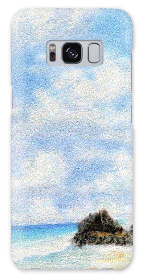 Coastal Decor Galaxy S8 Case featuring the painting Secret Beach Sky by Kenneth Grzesik