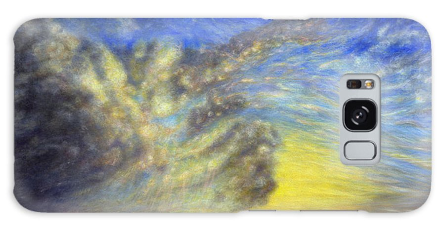 Coastal Decor Galaxy Case featuring the painting Secret Beach Sunset by Kenneth Grzesik