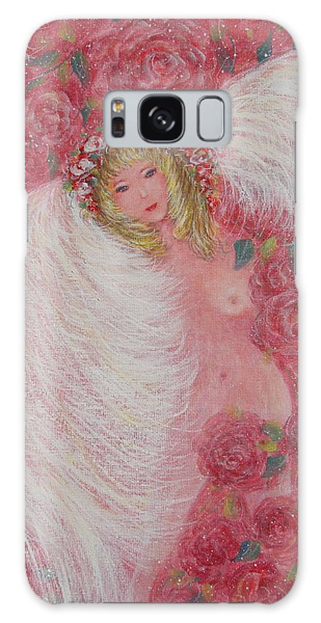 Angel Galaxy S8 Case featuring the painting Secret Garden Angel 6 by Natalie Holland