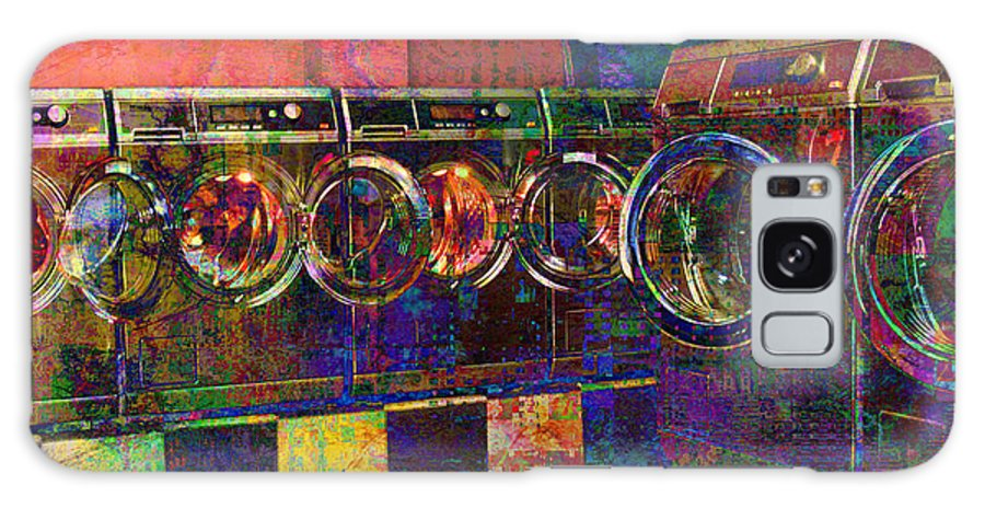 Laundry Galaxy S8 Case featuring the digital art Secret Life Of Laundromats by Barbara Berney