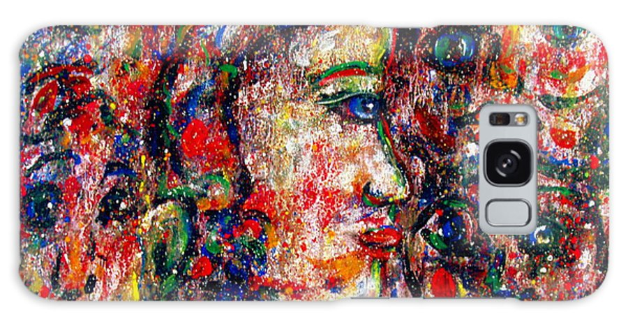 Free Expressionism Galaxy S8 Case featuring the painting Secret Lovers by Natalie Holland