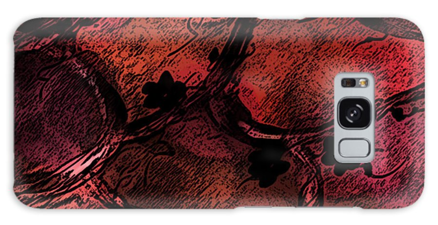 Abstract Galaxy S8 Case featuring the digital art Secret Places by Rachel Christine Nowicki