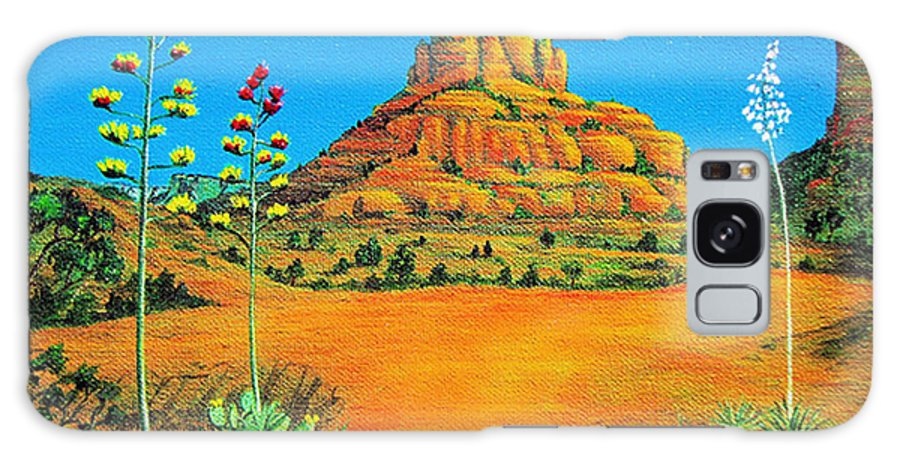 Sedona Galaxy S8 Case featuring the painting Sedona Bell Rock by Jerome Stumphauzer