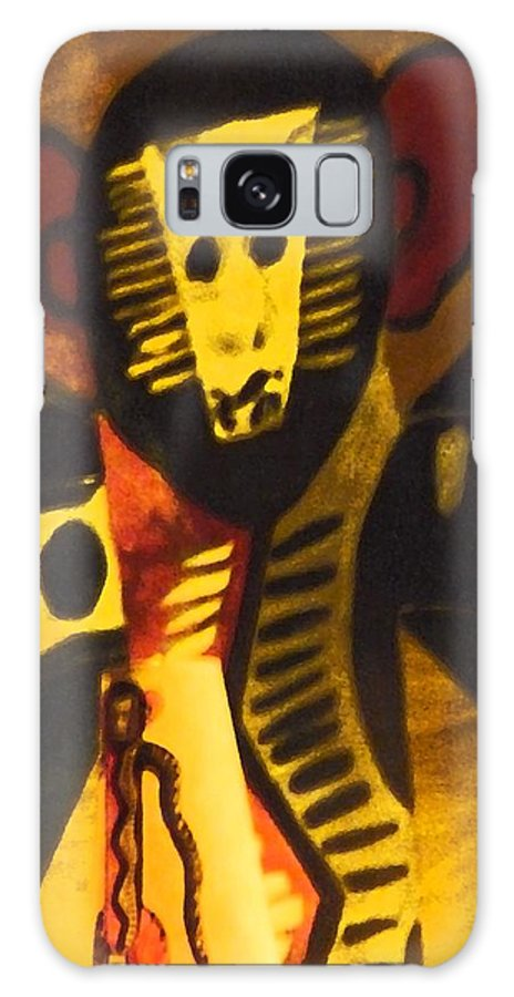 Abstract Galaxy S8 Case featuring the digital art See No Evil by Florene Welebny