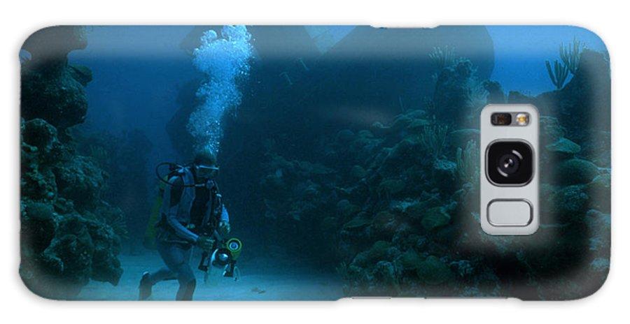 Scuba Galaxy S8 Case featuring the photograph Seeking Sunken Treasure by Carl Purcell