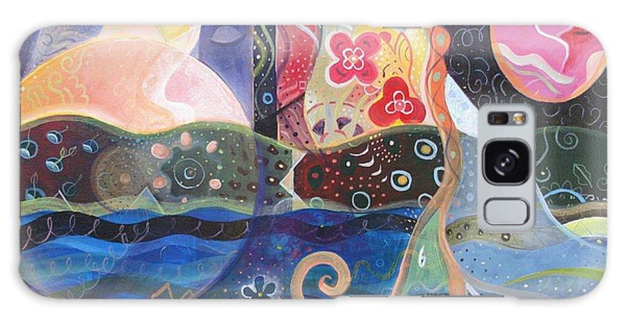 Seeker Galaxy S8 Case featuring the painting Seeking Wisdom by Helena Tiainen