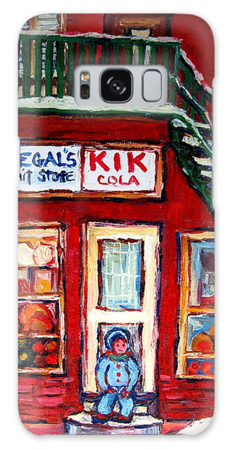 Segal Galaxy S8 Case featuring the painting Segal's Market St.lawrence Boulevard Montreal by Carole Spandau