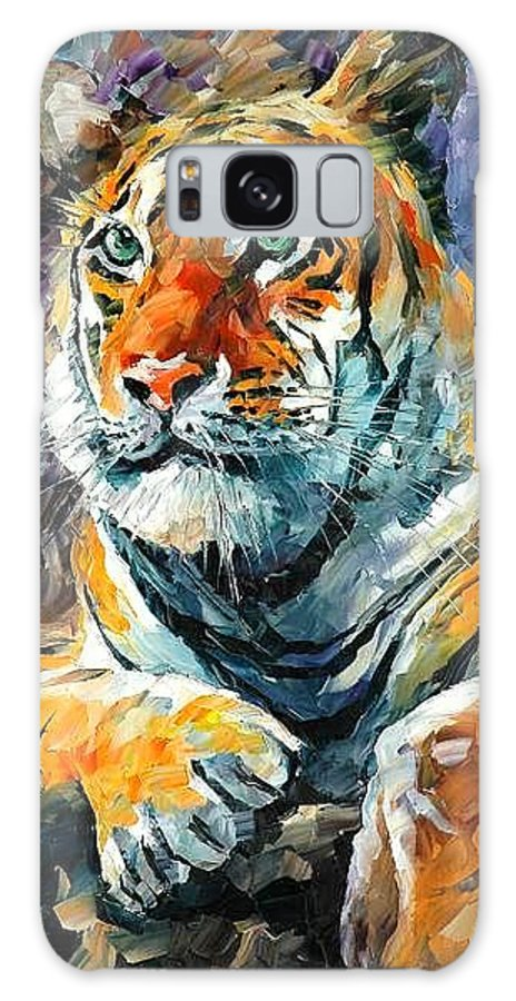 Painting Galaxy Case featuring the painting Seibirian Tiger by Leonid Afremov