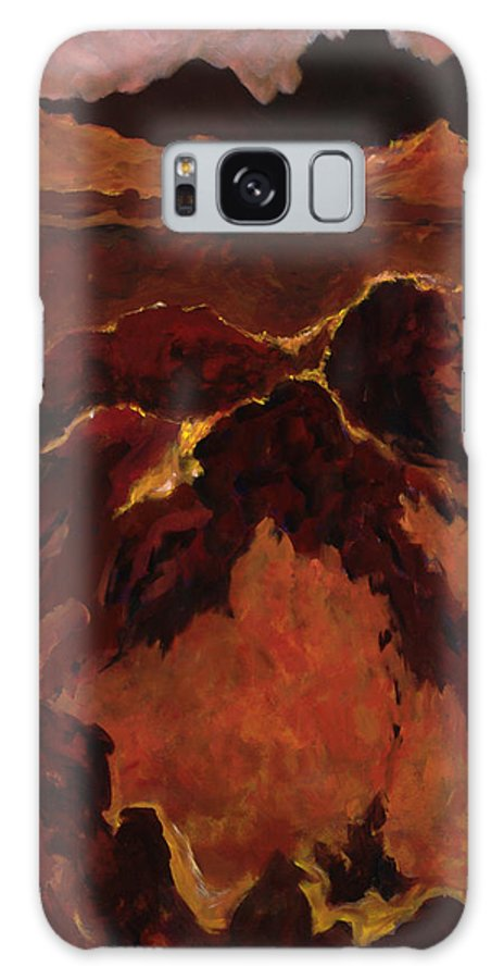 Abstract Galaxy S8 Case featuring the painting Seismic Shift by Tara Moorman