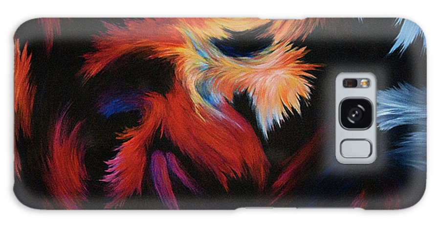 Abstract Galaxy Case featuring the painting Seizure by Rachel Christine Nowicki