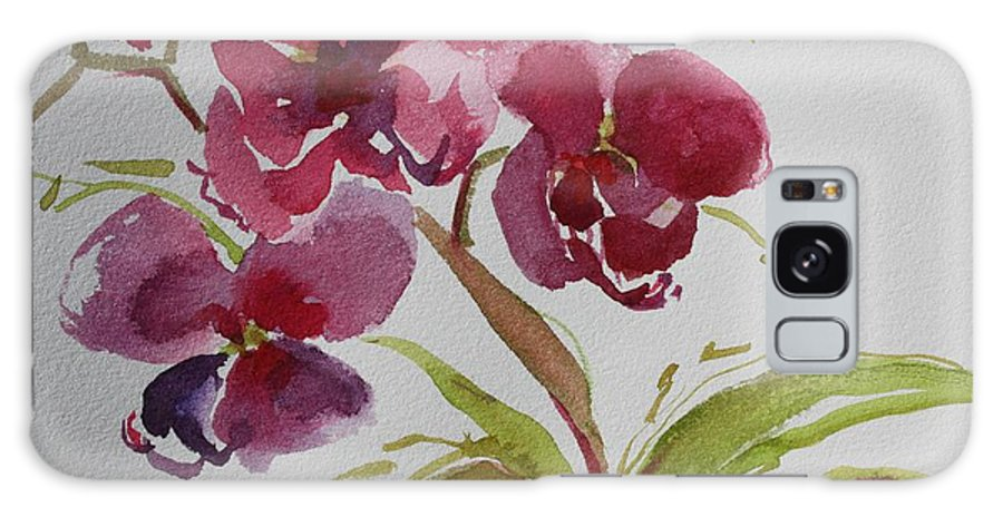 Zen Galaxy S8 Case featuring the painting Selby Orchid II by Tara Moorman