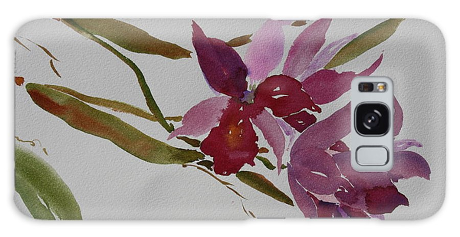 Zen Galaxy S8 Case featuring the painting Selby Orchids by Tara Moorman