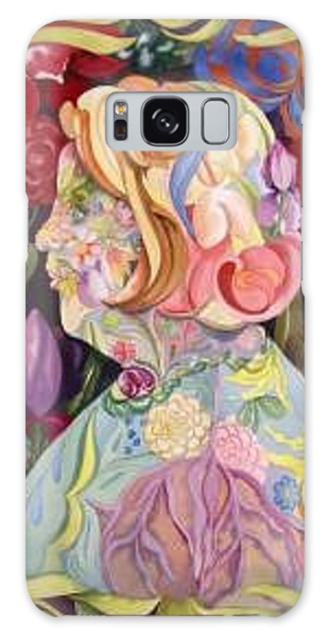 Portrait Galaxy Case featuring the painting Self Portrait by Marlene Gremillion