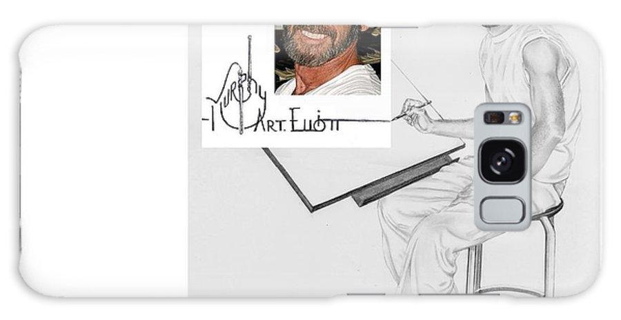 Pencil Galaxy S8 Case featuring the drawing Self Portrait by Murphy Elliott