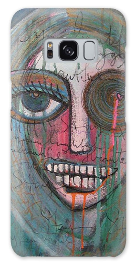 Self Portraits Galaxy Case featuring the painting Self Portrait Youre Beautiful by Laurie Maves ART