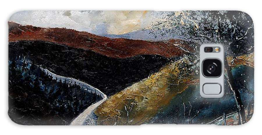 River Galaxy S8 Case featuring the painting Semois Valley by Pol Ledent