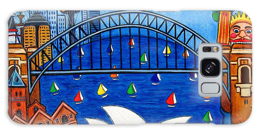 House Galaxy S8 Case featuring the painting Sensational Sydney by Lisa Lorenz