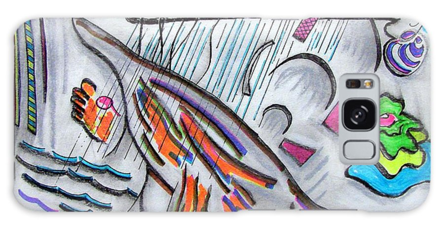 Abstract Drawing Galaxy Case featuring the drawing Sensing The Precipice by J R Seymour