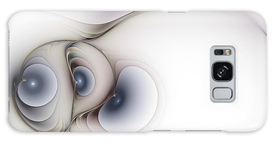 Abstract Galaxy S8 Case featuring the digital art Sensual Manifestations by Casey Kotas