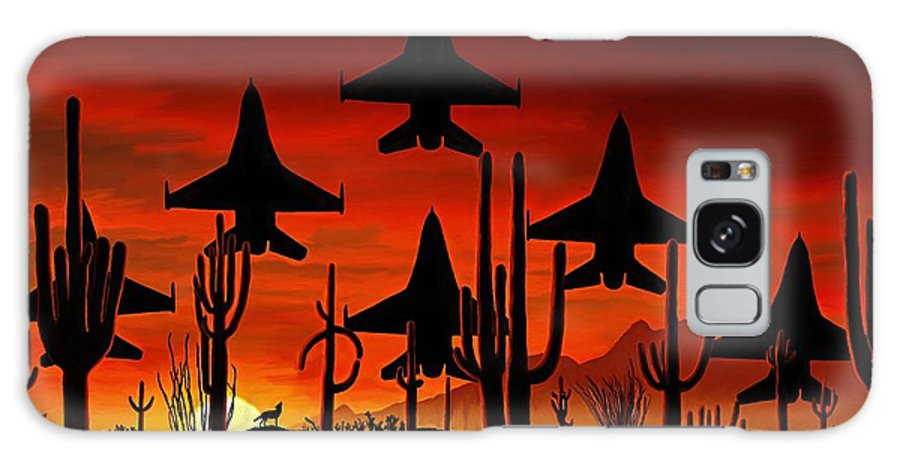 Fine Art Galaxy Case featuring the painting Sentinels by David Wagner